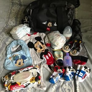 Mickey Mouse Diaper Bag Bundle Lot Gift Shower